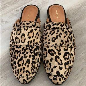 Halogen Violet Calf Hair Leopard Mules